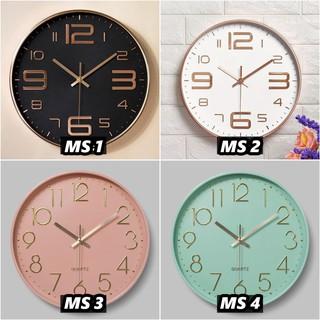 Đồng hồ treo tường kim trôi Quartz 30cm (10 kiểu, FreeShip, tặng pin và đinh)