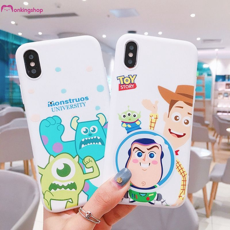 【monking】 iPhone 6 6s 7 8 Plus X Cute Cartoon Monsters University TPU Soft Case Toy story
