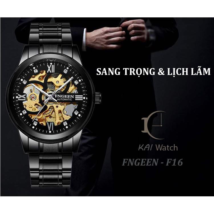 Đồng Hồ Nam FNGEEN - F16 Phiên Bản Doanh Nhân Dây Hợp Kim Thép Không Gỉ Cao Cấp - KAI WATCH
