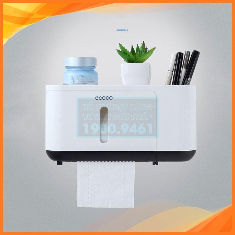 Hộp đựng giấy vệ sinh kèm kệ để đồ Ecoco, không cần khoan tường 9290 - 21748211 , 2158296755 , 322_2158296755 , 220000 , Hop-dung-giay-ve-sinh-kem-ke-de-do-Ecoco-khong-can-khoan-tuong-9290-322_2158296755 , shopee.vn , Hộp đựng giấy vệ sinh kèm kệ để đồ Ecoco, không cần khoan tường 9290