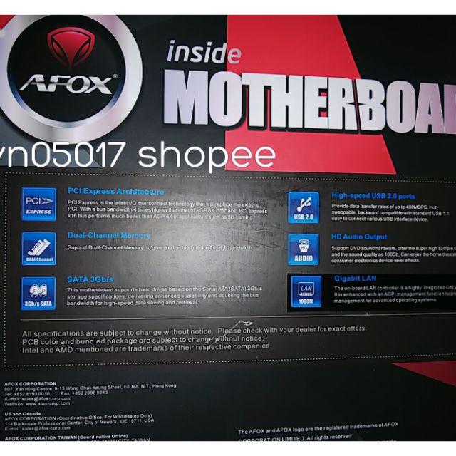 Mainboard Afox b75 -MA5-v1 Lan 1000M socket 1155, new 99,99% (chưa sử dụng ,trôi b hành ) , bh tinhocngoisao 06-11-2021 Giá chỉ 900.000₫