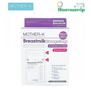 Túi trữ sữa cảm biến nhiệt miệng cắt Mother-K Hàn Quốc 30C KM13066