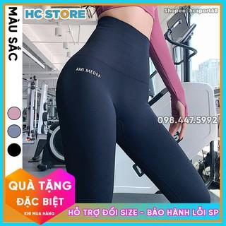 Quần Legging Cạp Cao Ami Medea QD19 Tập Gym Yoga Nữ Cạp Siêu Cao 15cm, Nâng Mông Eo Thon - HcSport68 thumbnail