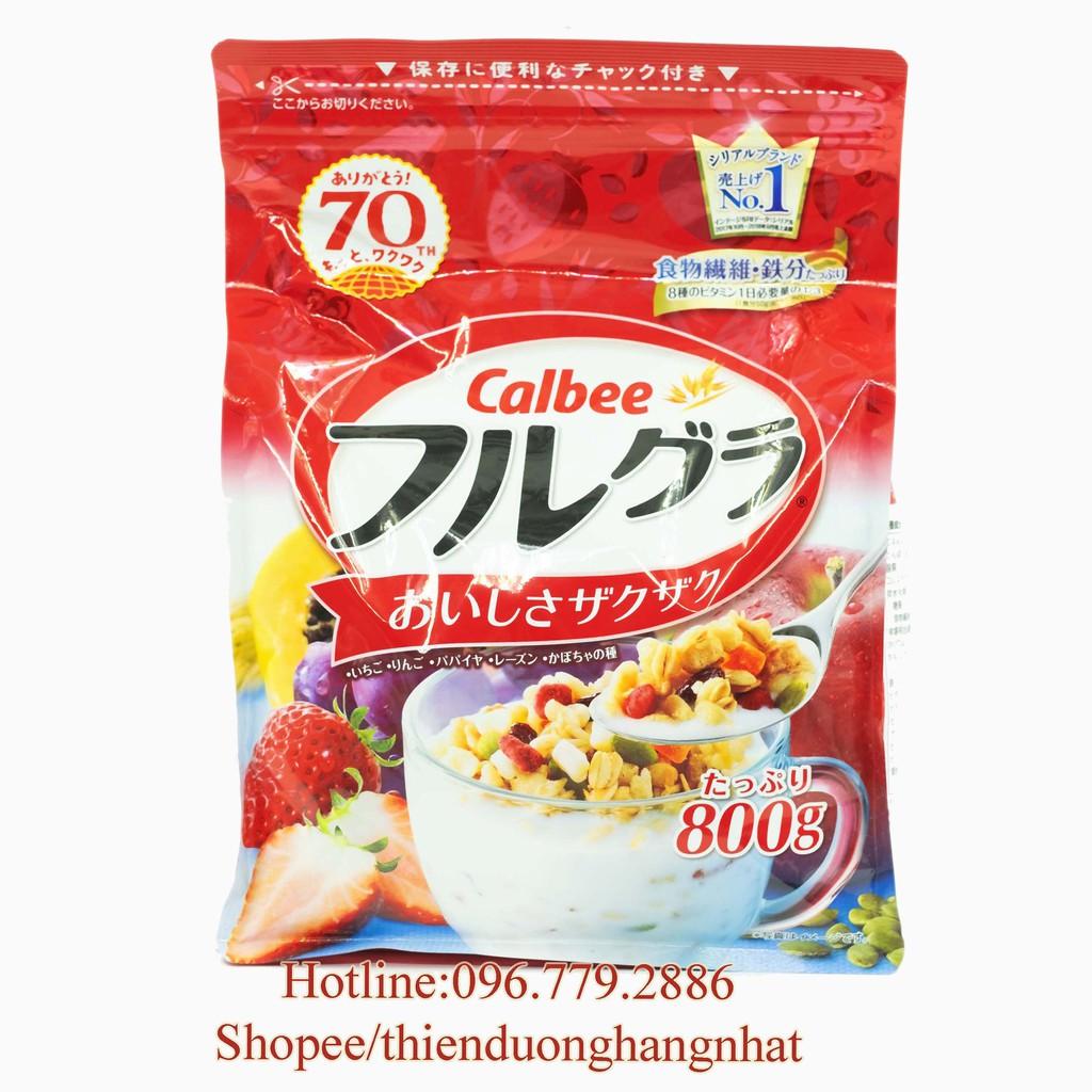 Ngũ cốc đỏ Calbee nội địa Nhật