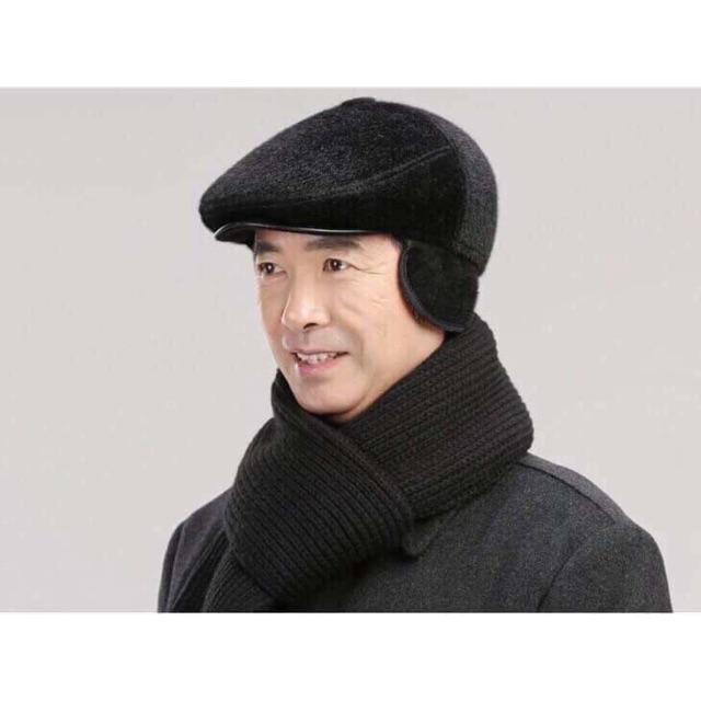 Mũ lông che tai gáy cho bố siêu ấm