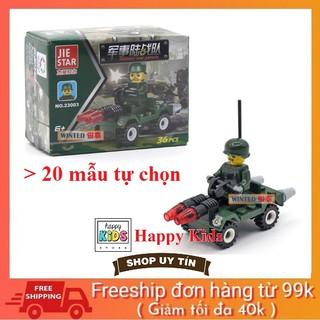 Đồ chơi lắp ghép các loại xe và thú Mini Lego Style