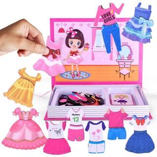 Bộ ghép tranh thay trang phục dành cho bé gái