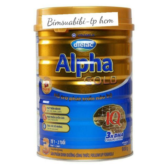 Sữa alpha gold số 3 dành cho bé từ 1 đến 2 tuổi hộp 900g