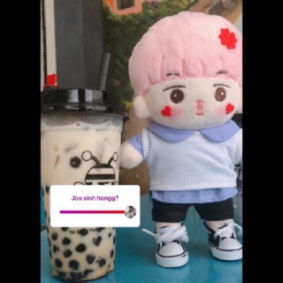 [BTS Fansite Doll] Fujimon ver pink (con bố RM) Only Doll (không kèm outfit)