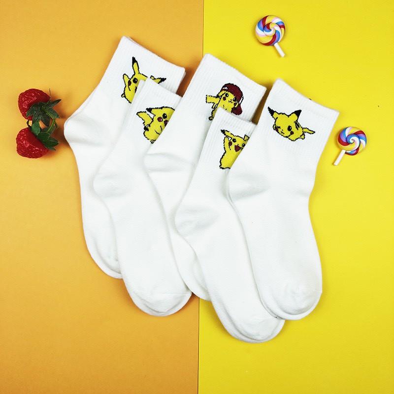 Tất nam nữ cổ cao nhân vật hoạt hình Pikachu dễ thương TN73