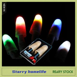 [STARRY]1 Pair Creative Magic Thumb Tip LED Light Magic Trick Finger Lights for Dance Party Props –