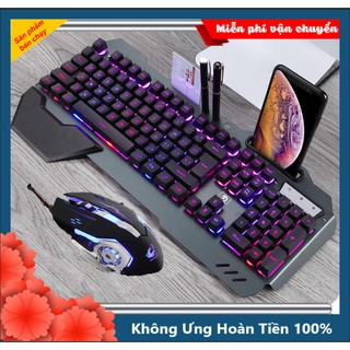 [GIÁ HỦY DIỆT] Bộ Bàn Phím Gaming K618 Và Chuột V5 Siêu Đẹp Led RGB 10 Chế Độ Cao Cấp thumbnail