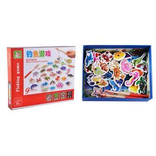 [HOT] Đồ chơi hộp câu cá nam châm gồm 2 cần câu và 32 con cá cho bé – Toca Toys