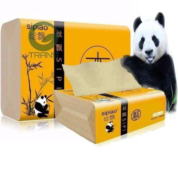 Giấy Ăn Gấu Trúc SIPAO Siêu Dai Gói 300 Tờ giá rẻ