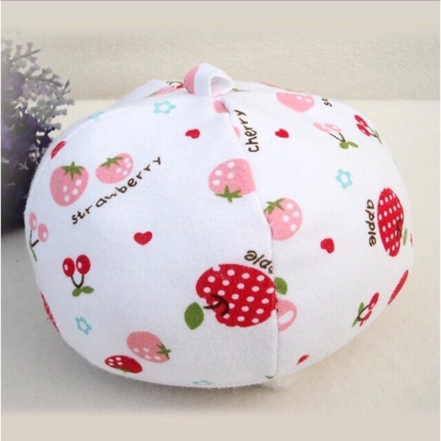 mũ che thóp cotton đẹp cho trẻ sơ sinh