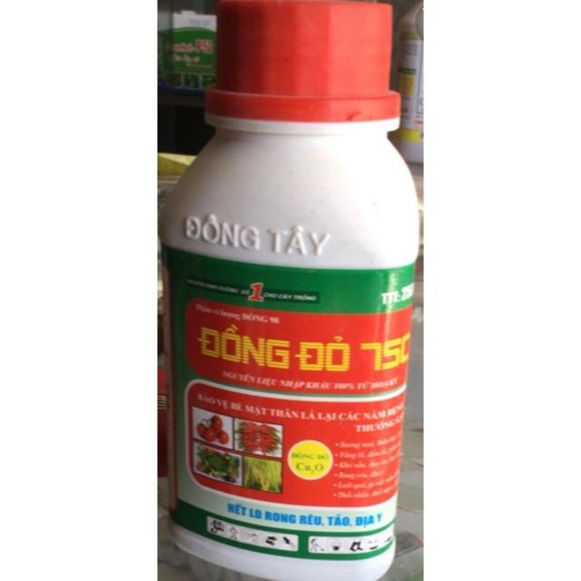 Chai trị nấm, diệt tẩy rong rêu, địa y rửa vườn Đồng Đỏ 7SC chai 250ml