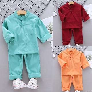 Bộ Đồ Ngủ 2 Món Áo Tay Dài + Quần Dài Vải Cotton Mỏng Mềm Mại Lok01952 Cho Bé 0-5 Tuổi