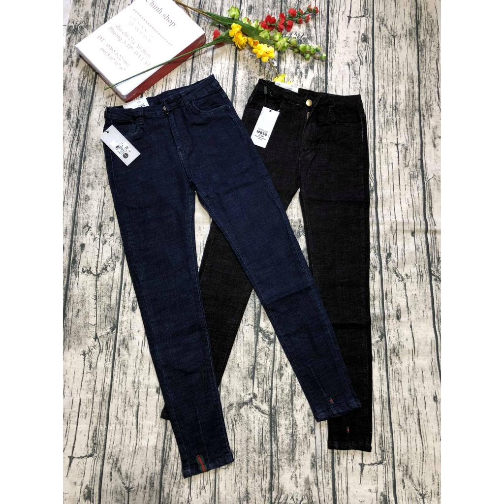quần jean nữ chất đẹp form chuẩn họa tiết gấu cực đẹp