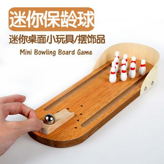 Mini Finger Bowling Wooden Board Game Children Boys Girls Kids Strategy Game Toy