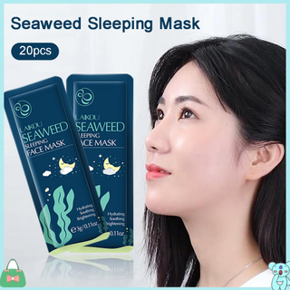 clearance479 20Pcs Seaweed Moisturizing Anti Wrinkle None Wash Facial Skin Care Facemask