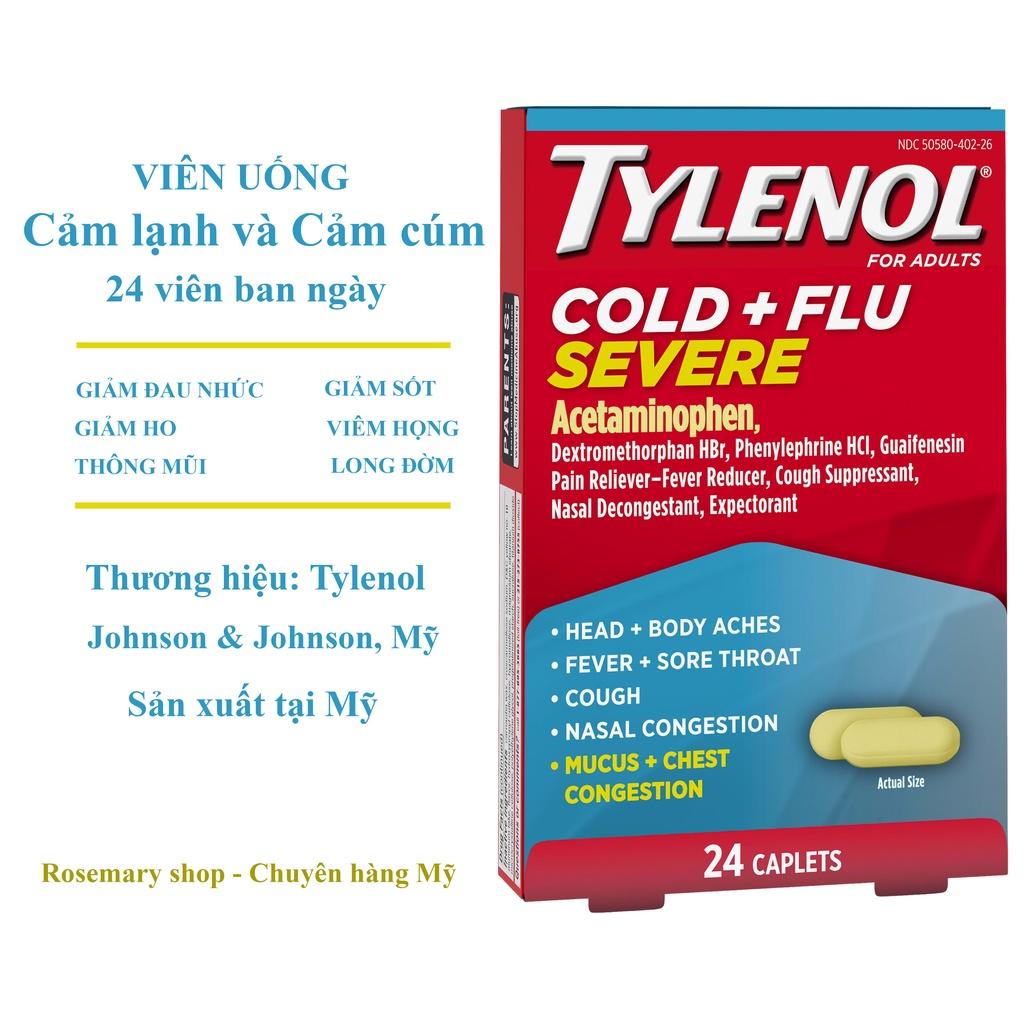 Viên uống Tylenol giảm Cảm Cúm và Cảm Lạnh, Tylenol Mỹ 24 viên