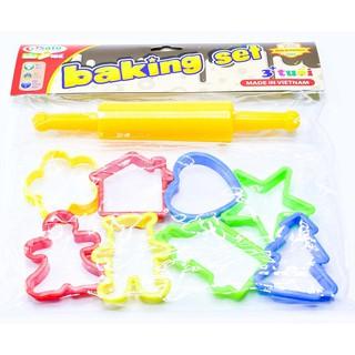 Set 8 khuôn đồ chơi làm bánh cho bé gái