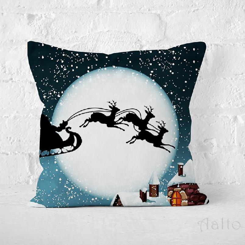 Christmas Pillowcase Printed Christmas Claus Decorative Pillow Sofa Case Cushion Covers 764