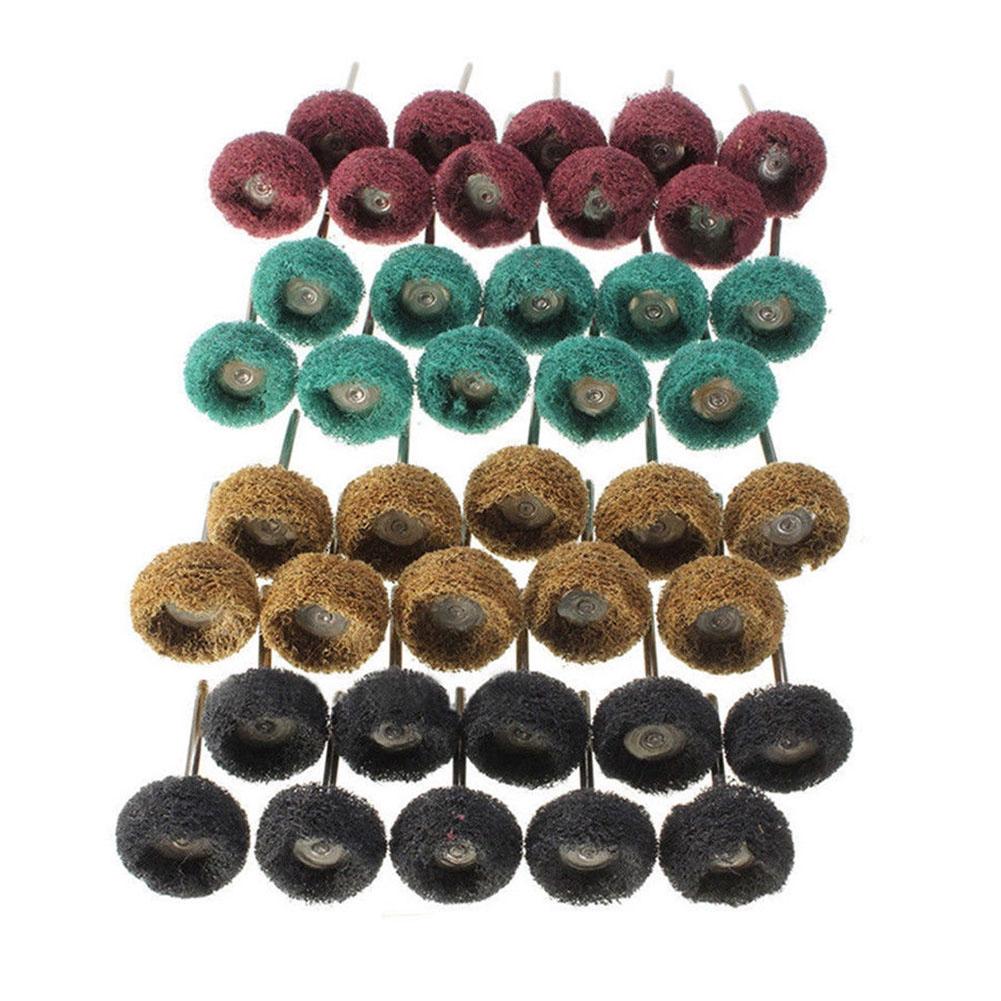 40pcs Nylon Grinding T Shape Rotary Tool Buffing Polishing