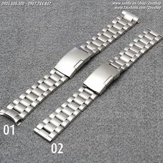 Dây đồng hồ inox đúc cao cấp 20mm 22mm - Mã số: D1603