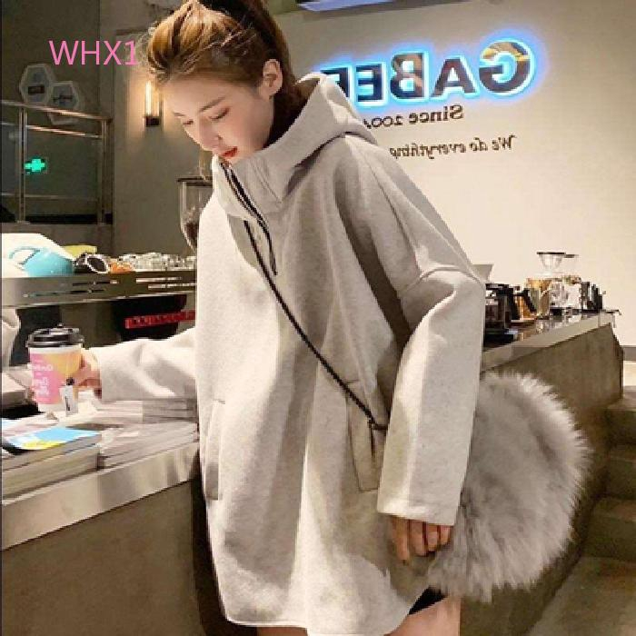 WHX1 and and plush women's fat thickened version Large coat winter loose Korean medium length trendy and autumn size