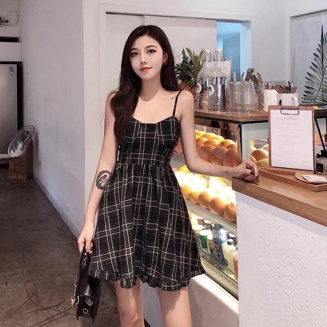 Váy 2 dây ulzzang   Shopee Việt Nam