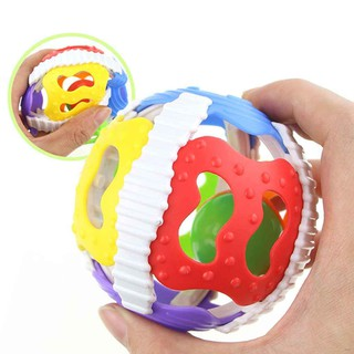 Baby Rattle Toys Little Loud Bell Ball Toy Newborn Activity Grasping Toy Handbells Ring Handle Toys broxah