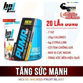 Tăng sức mạnh PUMP HD BPI Sports 20 lần dùng (220gr)