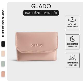 [Mã INCU50 giảm 50k đơn 250k] Ví nữ cầm tay phong cách Hàn Quốc trẻ trung thời trang Glado màu hồng đậm - VG002 thumbnail