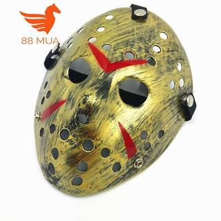 Mặt nạ Jason hóa trang Halloween leegoal Màu Vàng Lỗ tròn TJ8 TT50 kéo