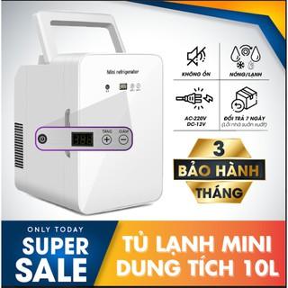 [SALE SẬP SÀN] Tủ lạnh mini 10 lít có hiện thị nhiệt độ dùng cho gia đình và ô tô thumbnail