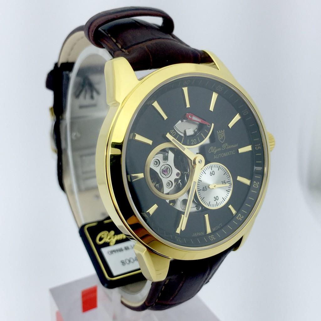 Đồng hồ nam OLYM PIANUS chính hãng OP9908-88.1AGK-GL, dây da