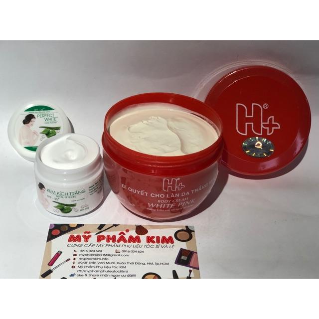 Kem H+ đỏ dưỡng trắng da toàn thân và kích trắng<combo siêu trắng nhanh>