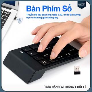 Bàn phím mini, bàn phím số không dây 18 phím cơ bản dùng cho Mac Book Air/Pro, laptop, điện thoại bảo hành 1 năm G3