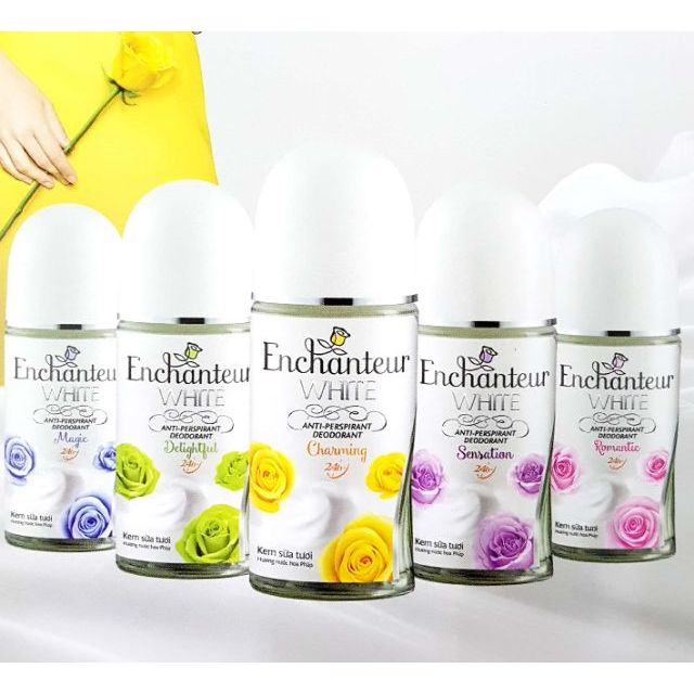 Enchanteur - Lăn khử mùi trắng da 50ml