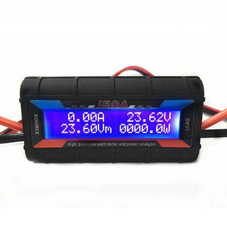 150A RC power meter analyzer current power meter model tester drone accessories – 150A Digital LCD Backlight High Precis
