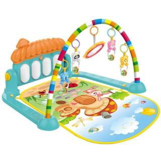 HAN❀ 3 in 1 Tollder Musical Gym Play Mat Lay & Play Fitness Fun Piano Kid Boy Girl