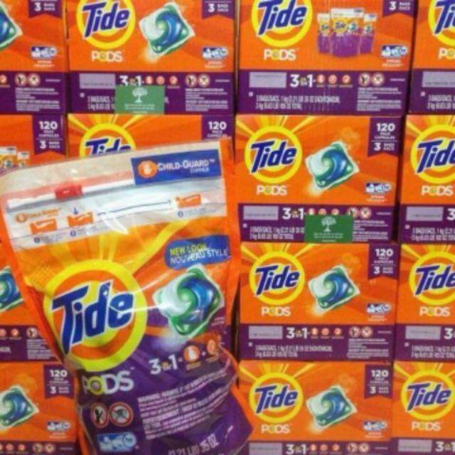Túi 38 viên giặt Tide Pods 3in1 Mỹ