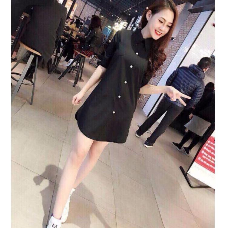 Áo sơ mi kiểu váy Hàn Quốc| Váy kiểu cổ sơ mi tôn dáng dễ thương - 3505054 , 1163549537 , 322_1163549537 , 160000 , Ao-so-mi-kieu-vay-Han-Quoc-Vay-kieu-co-so-mi-ton-dang-de-thuong-322_1163549537 , shopee.vn , Áo sơ mi kiểu váy Hàn Quốc| Váy kiểu cổ sơ mi tôn dáng dễ thương