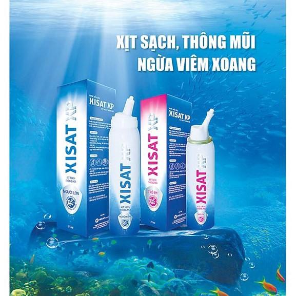 Nước biển sâu sạch thông mũi người lớn Xisat (75ml)