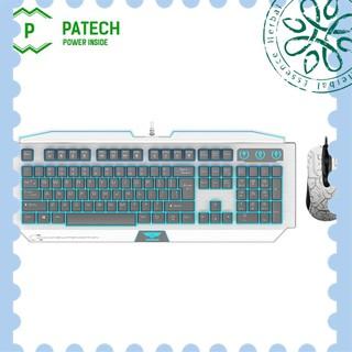 [ Hàng Hot ] PATECH Combo bàn phím bán cơ NEWMEN GM100 và GX1-S (Trắng ) - Hàng Chính Hãng thumbnail