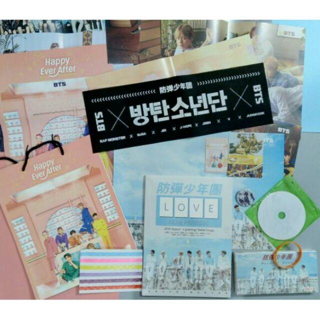 Combo photobook BTS 15 món Love yourself, Season Greeting