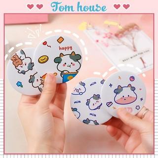 Gương mini trang điểm nhỏ cầm tay bỏ túi hình bò sữa Tom House thumbnail