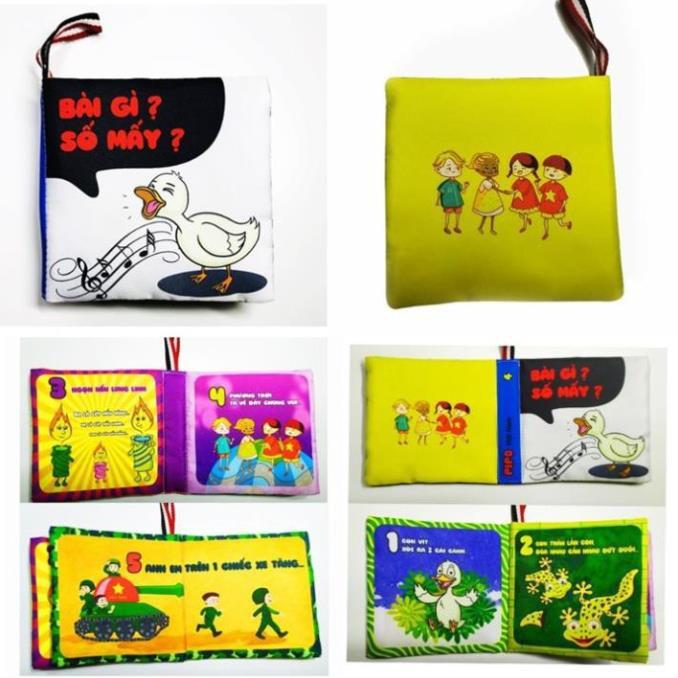 [FREESHIP GIÁ SỐC] Sách vải song ngữ Thông minh kích thích Ngũ quan giúp bé tăng Trí tưởng tượng-Dễ dàng...