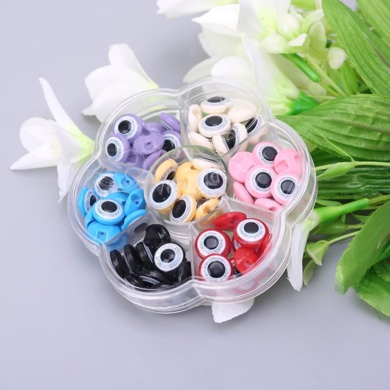 Bộ 100 Mắt Nhựa Tự Dính 12.5mm Cho Búp Bê
